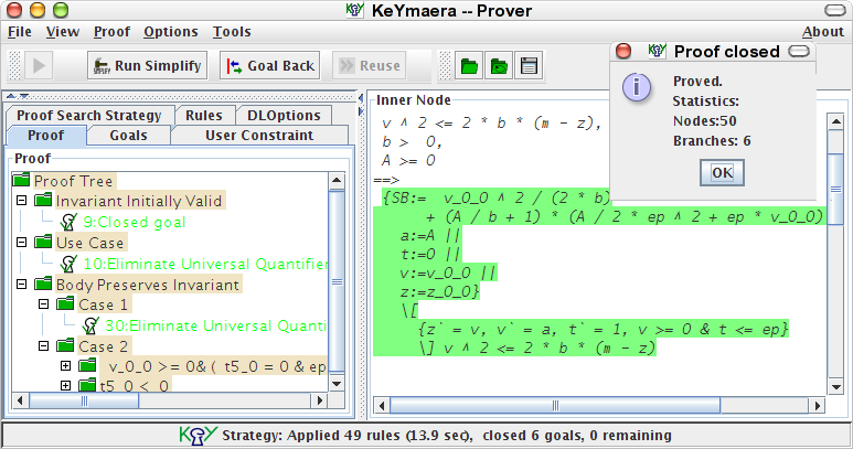 KeYmaera: A Hybrid Theorem Prover for Hybrid Systems